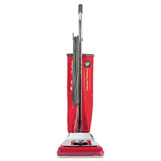 Heavy Duty Commercial Upright Vacuum, 17.5lbs, Chrome/Red   EUKSC888J