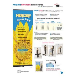 Testrite Mercury Retractable Banner Stand (2 sided)