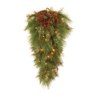 Tree Co. White Pine Pre Lit 28 Wall Teardrop   WHP13 300L 28B