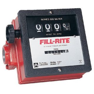Fill Rite Mechanical Flow Meters   series 900 basic meter w/1 inlet