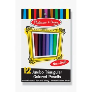 Melissa and Doug Jumbo Triangular Colored Pencils (Set of 12)   4119
