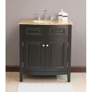 Virtu Seville Single 32 Bathroom Vanity in Black   LS 1023T