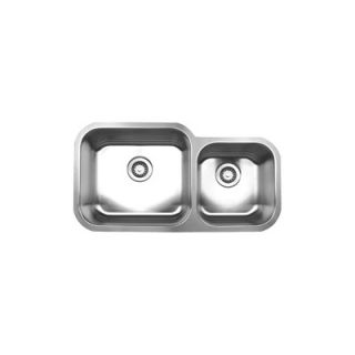 Whitehaus Collection Noahs Chefhaus 33.5 Double Bowl Undermount