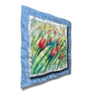 Walls Swaying Tulips Contemporary Wall Art   30.5 x 30.5