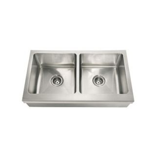 36 Stainless Steel Double Bowl Apron Front Kitchen Sink   MHX720 36