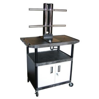 Luxor Mobile Plasma / LCD Stand with Cabinet (40 High)   LE40CWTUD