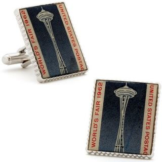 Penny Black 40 Seattle Worlds Fair Stamp Cufflinks   PB SE SL