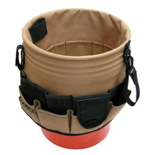 Style N Craft 48 Pocket Bucket Organizer in Khaki / Black