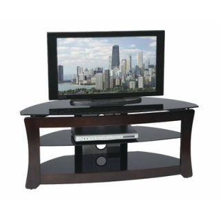 OSP Designs Wood and Glass 48 TV Stand   TV2548TDC