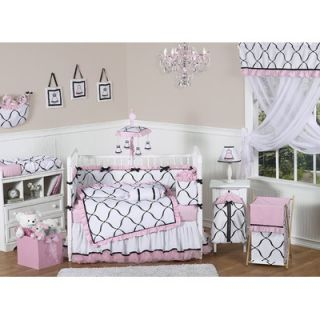 Sweet Jojo Designs Pink, Black and White Princess Wallpaper Border