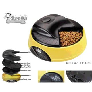 QPets 4 Meal LCD Automatic Pet Feeder