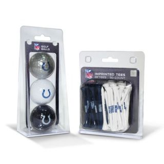 Team Golf NFL Three Ball Pack and 50 Tee Pack   6375563 Ball Pack