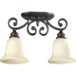 Quorum Bryant Two Light Ceiling Mount in Oiled Bronze   3254 2 86