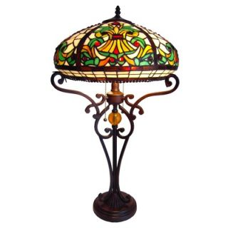 Tiffany Style Victorian Table Lamp with 66 Cabochons   CH16A183TL