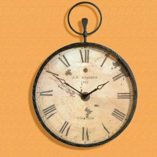Bassett Mirror Antique Bronze Pocket Watch Wall Clock   m2310