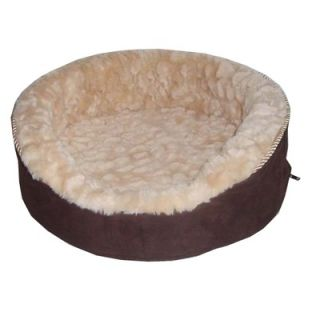 Soft Touch Faux Suede Oval Cuddler Dog Bed in Brown   PET63OC189