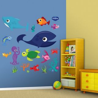 Fathead Sea Creatures Group One Wall Graphic   69 00029