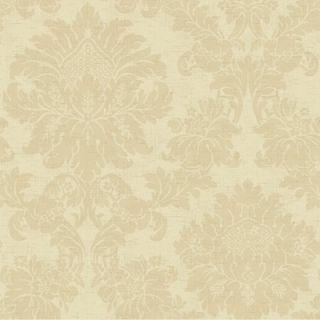 York Wallcoverings French Dressing Textured Damask Wallpaper