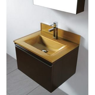 Madeli Venasca 72 Double Wall Mount Bathroom Vanity Set in Walnut