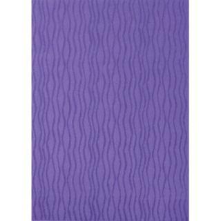 Central Oriental Tufted Scroll Purple Wave Rug   TBWA507PU