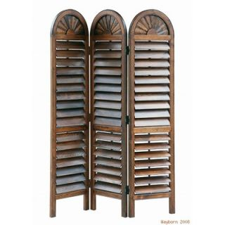 Oriental Furniture 67 Arc Top Photo Display Room Divider in Rosewood