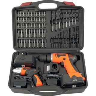 Trademark Global 74 Piece Combo Cordless Drill and Driver   75 10601