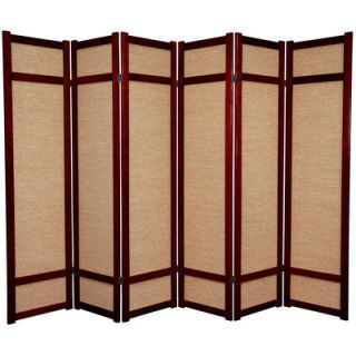 Oriental Furniture 72 Jute Shoji Screen in Rosewood   JKSHOJI