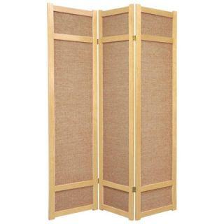 Oriental Furniture 72 Jute Shoji Screen in Natural