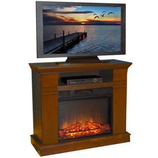 Muskoka Alpine 62 In Wide Electric Fireplace Tv Stand Burnished
