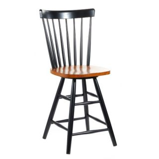 Home Styles 24 Counter Stool in Black and Cottage Oak   5635 88