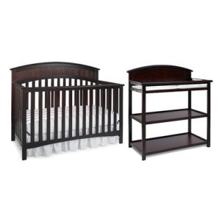 Graco Charleston Classic Two Piece Convertible Crib Set in Cherry