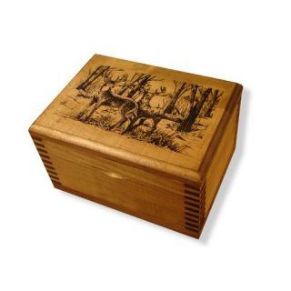 Accessory Box With Wildlife Series Whitetail Deer Print   TC19 85