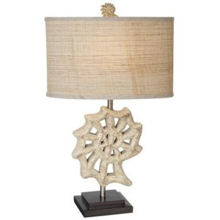 Lighting Nautilus Shell Table Lamp in Antique White   87 6417 05