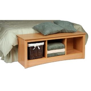 Prepac Sonoma Wood Storage Bedroom Bench   MSC 4820