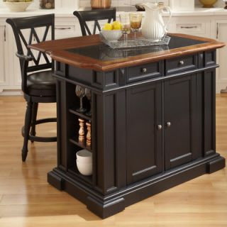 Home Styles Traditions Kitchen Island with Granite Top   500 94DLX