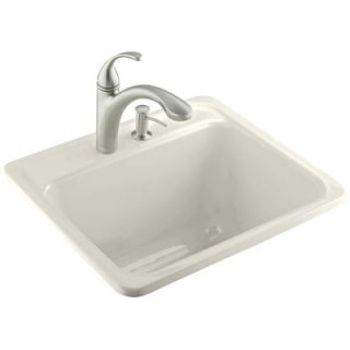 Glen Falls 2 Hole Self Rimming Utility Sink in White   K 6663 2 96