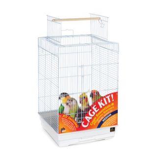 Prevue Hendryx Playtop Small Parrot Bird Cage Starter Kit