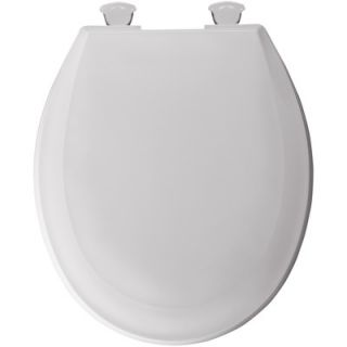 Bemis Round Solid Plastic Toilet Seat with Easy Clean and Change