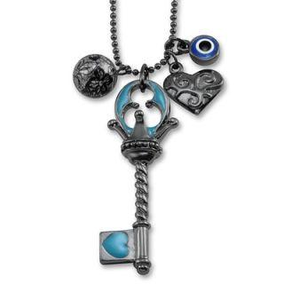 West Coast Jewelry Silvertone Multi Charm Key Necklace   WCJ TN104/5