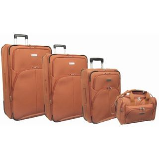 McBrine Luggage Super Lightweight 4 Piece Upright Luggage Set   A108