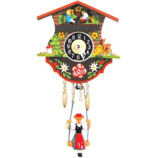 Black Forest Battery Operated Clock with Teeter Totter Girl
