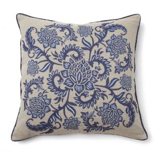 Villa Home Full Bloom Pillow in Indigo Blue