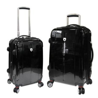 Travelers Club Berlin 2 Piece Expandable 4 Wheels Hardcase Luggage Set