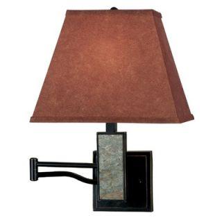Kenroy Home Dakota Swing Arm Wall Lamp in Slate