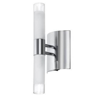 Dainolite Frosted Glass Two Light Bath Vanity with On/Off Switch in