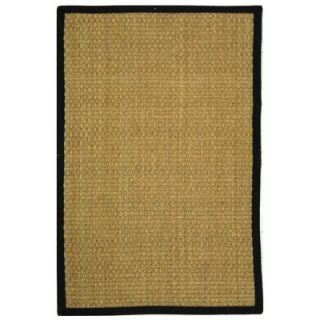 Safavieh Natural Fiber Natural/Black Rug   NF114C RE
