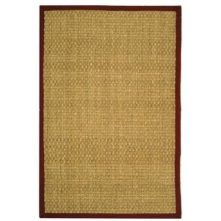 Safavieh Natural Fiber Natural/Red Rug   NF114D RE