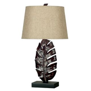 Kenroy Home Frond One Light Table Lamp in Mottled Bronze
