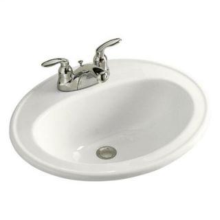 Kohler Pennington Self Rimming Bathroom Sink with 4 Centers