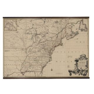 Authentic Models 1755 North America Map